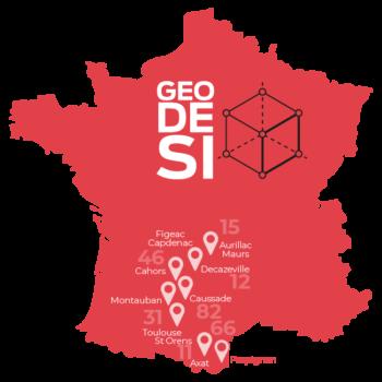 Nos agences GEODESI  - EXPERTS GEO - GETUDE - 3DSI - HYDROGEOSPHERE